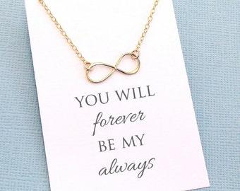 Layering Necklace | Infinity Necklace, Boho Jewelry, Dainty Minimalist Jewelry, Wife Birthday, Valentines, Boho Gift Wife, Wife Gift | L04