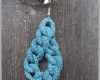 Interlocked Loop Earring Crochet Pattern ... Instant Download