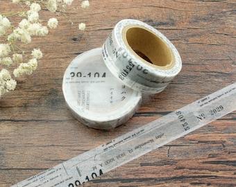 Yohaku Original Japanese Washi Tape Gray Y-016