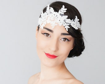 Bridal Headband Bridal Headpiece Lace Headband Retro Headband Wedding Accessories Bridal Accessories Lace Headpiece Inspirational/ BERILE
