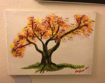 Tree of life Acrylic hand painting