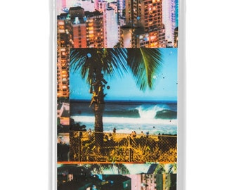 NEW iPhone 7/7+ Case, Town and Country, Modern, Surf, Sunset, North Shore, Waikiki, Oahu, Beach, Art, Avail. with Black or White case color