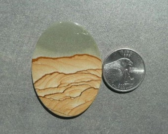 Cripple Creek Picture Jasper Cabochon from Oregon CC5