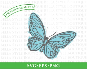 Painted Butterfly svg png eps cut file
