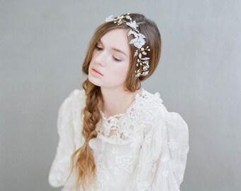 Bridal hair vine - Flora mist hair vine - Style 719 - Made to Order