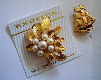 Lot of 2 nice brooches , ONE PRICE for the group , please See description for details