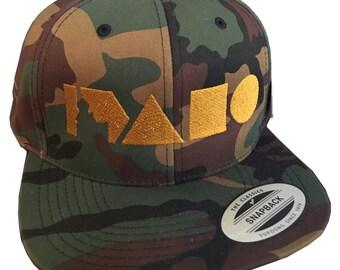 Geo Idaho Hat- Snapback Full Fabric -BANANA ink