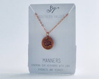 Southern Values Manners Necklace / Copper / Charm Necklace