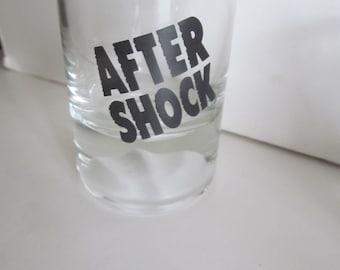 After Shock Shot Glass Vintage shot glass Bar Decor Bar Cart Decor Bar Breweriana Decor Brewers Gift Liquor Cake Toppers Beer