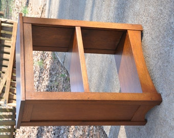 "CUSTOM LISTING for JEFF 52""H Oak Mission Style Bookcase Arts & Crafts Solid Wood Book Shelf Custom Quartersawn White Oak"