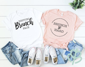 Resting brunch face, brunch so hard, brunch shirt, bachelorette shirt, wedding shirt, bridal part shirt, girls weekend shirt, gift for her