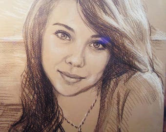 Custom sketch, portrait from photo, pencil sketch, commission sketch