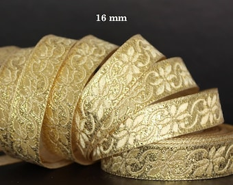 Embroidered Jacquard lace * medieval * 16mm wide