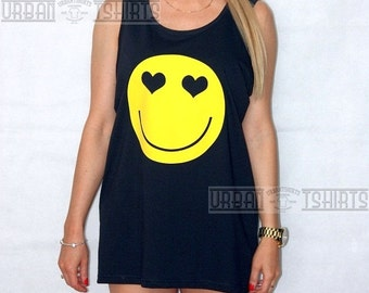 SMILEY FACE OVERSIZED Vest  // Premium Quality ! - Made in London / Fast Delivery to the Usa , Canada , Australia & Europe !