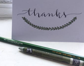 Thanks / custom calligraphy card