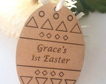 Baby's 1st Easter Daddy Easter egg engraved wooden egg personalised easter egg 1st easter 2nd easter first easter baby easter gift