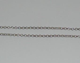 1 m rollo chain size 3.8 mm silver matte - ref: CA 136