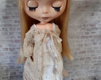 "Blythe @home - Time for Tea housecoat PDF pattern for 12"" Blythe doll"