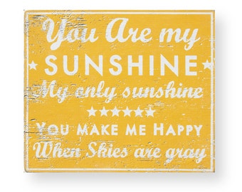 You Are My Sunshine,Rustic Wooden Sign, 19x22, Nursery Decor, Rustic Nursery Decor, Playroom Decor, Baby Shower Gift, Nursery Wall Decor