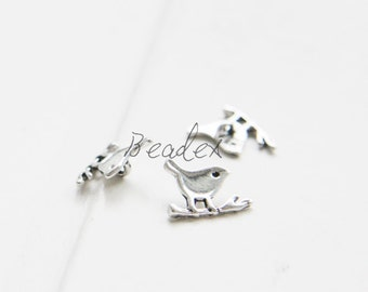 6pcs / Bird / Charm / Oxidized Silver Plated / Base Metal  (CA7602//J172A)