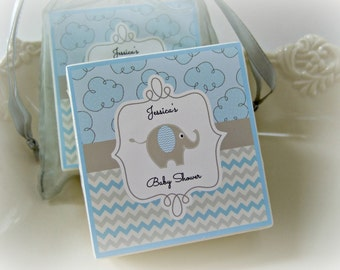 Baby  Boy Shower Favors, Elephant Shower Favors,  set of 10 soap favors