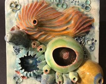 Coral Reef Sea Ocean inspired Ceramic Wall Tile