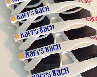 Personalized Sunglasses, Bachelorette Party Favors, Bachelorette Gifts, Wedding Favors, Bach Party, Bridesmaid Gifts, Groomsman Gifts