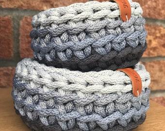 Home Decor / Storage Basket / Small Crochet Basket / Crochet Bowl / Crochet Storage Container