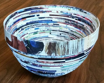 Recycled Magazine Paper Bowl