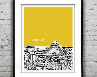 Memphis Tennessee Poster Art Print City Skyline Version 1 TN