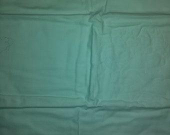 Green Flannel Fabric