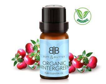 Organic Wintergreen (Gaultheria Procumbens) Leaf Essential Oil 100% Pure Natural Fragrance Aromatherapy -1ml, 10ml, 30ml, 50ml, 100ml Bottle