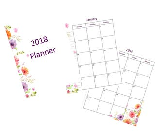 2018 Full Page Planner - Sunny Floral