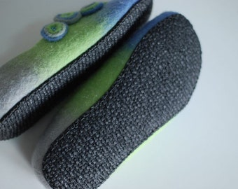 Rubber soles for my Felted shoes with stitching color beige, brown or black for outside wearing