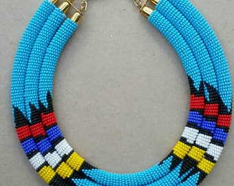 3 in 1 beaded necklace, multi layer necklace, multi strand necklace, necklace for women