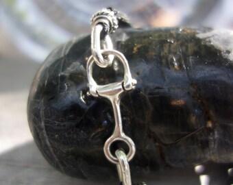 Sterling silver bracelet. Men bracelet. Adjustable length.