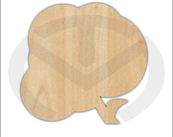 Cotton Boll -01598- Unfinished Wood Laser Cutout, Door Hanger, Door Decor, Various Sizes, Southern, Farming