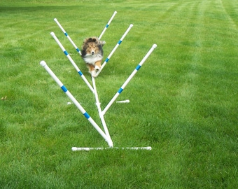 Agility Gear Training Weave Poles ( 6 pole set ) - Dog Agility Equipment
