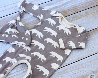 Organic Baby Outfit- Gender Neutral Organic Baby Take Home Outfit - Boy Coming Home Outfit -Organic Baby Clothes - Zaaberry -  Made To Order