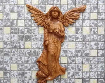 Wood Carved Angel Wings Wall Decor ~ Wood Carving Angel ~ Angel Wings Decor ~Angel Wing Wall Decor ~ Wood Decor Wall Hanging ~ Wood Wall Art