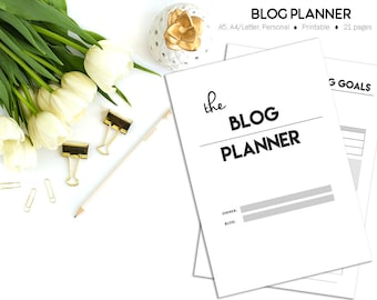 Blogging Planner | Blog Planner PRINTABLE | Editorial Calendar | Blog Organizer | Social Media Planner | Giveaway Tracker | Monthly Stats