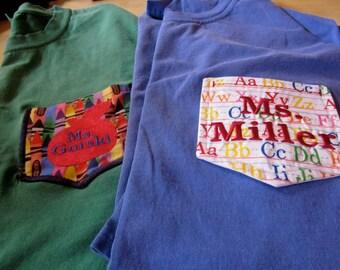 Teacher Pocket Comfort Colors Tee Shirt