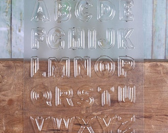 """Alphabet Chocolate Molds, Letter Candy Molds, 1.25"""" Alphabet Candy Molds, Chocolate Candy Moulds, Candy Moulds, Chocolate Moulds"""