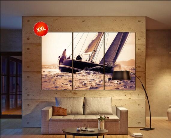 sail boat  canvas wall art sail boat wall decoration sail boat canvas wall art art sail boat large canvas wall art  wall decor