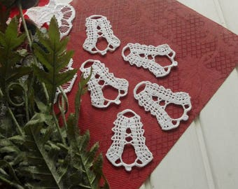 Crochet bell ornaments Christmas decorations White crochet bells Christmas tree decorations Crochet Christmas bell