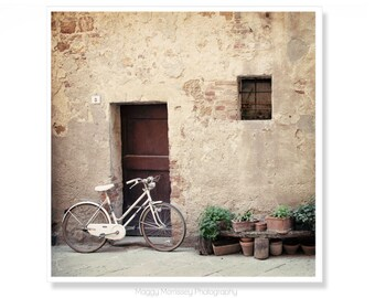 Rustic Art Print, Wall Decor, Tuscany, Rustic Home Decor Bicycle Art Print, Bicycle Photograph, Bicycle Wall Art, Gift for Cyclist