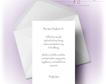 Bridget Jones New Years Resolution   Card