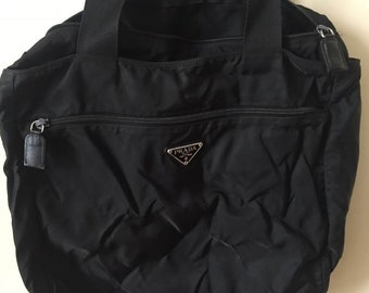PRADA Telavela Black Sports bag big