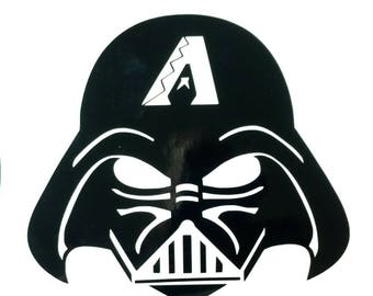 Arizona Diamondbacks Darth Vader decal Star Wars die cut vinyl sticker window bumper custom Decal