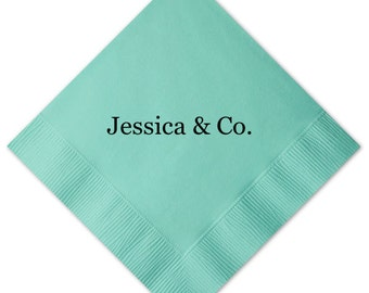 Personalized Bridal Shower Napkins Women Ladies Girl Bride & Co Fashion Custom Monogram Beverage Luncheon Dinner Guest Towels Available